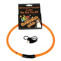 30840 70cm Flashing LED Band Orange - Cut to size