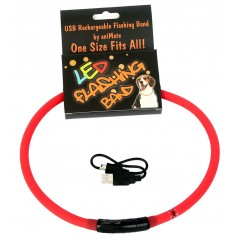 30845 70cm Flashing LED Band Red - Cut to size