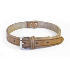DLN12C8 12mm x 8 inch (20cm) Natural Leather Collar