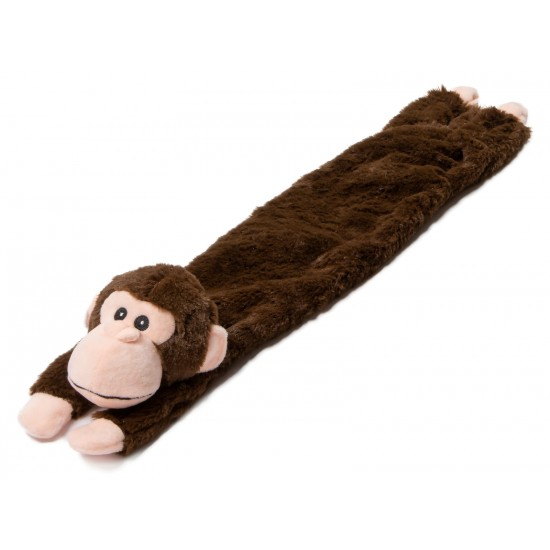 "55101 24"" Multi Squeaker Brown Monkey Dog Toy with a Stuffed Head"