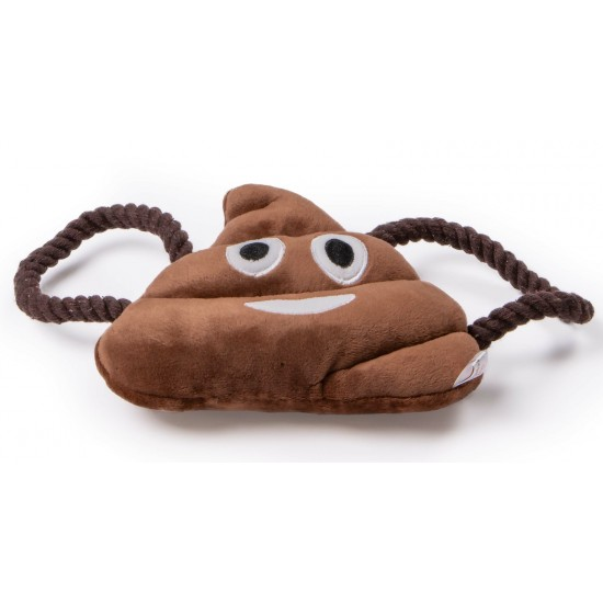 """55160 7"""" Plush Poo Emoji Squeaky Dog Toy"""