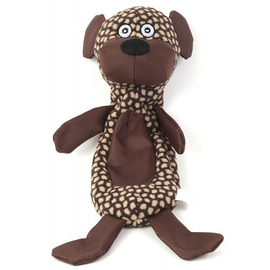 88150 Brown Dog Crinkle Fabric Toy with Squeaker