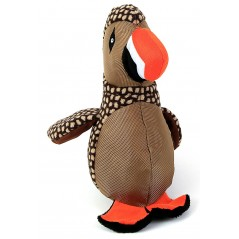88165 Brown Puffin Bird Dog Toy with Squeaker