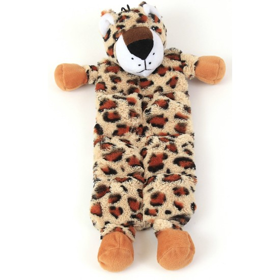 88170 Flat Leopard Toy with Multi Squeakers Panels