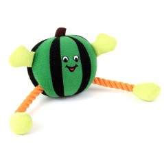 88301 Green Humbug Ball/Rope Dog Toy with Squeaker