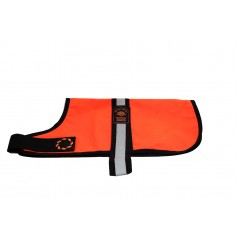 DJW8OR 8 inch Orange Unlined Hi-Vis Dog Coat