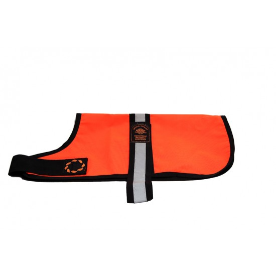 DJW16OR 16 inch Orange Unlined Hi-Vis Dog Coat