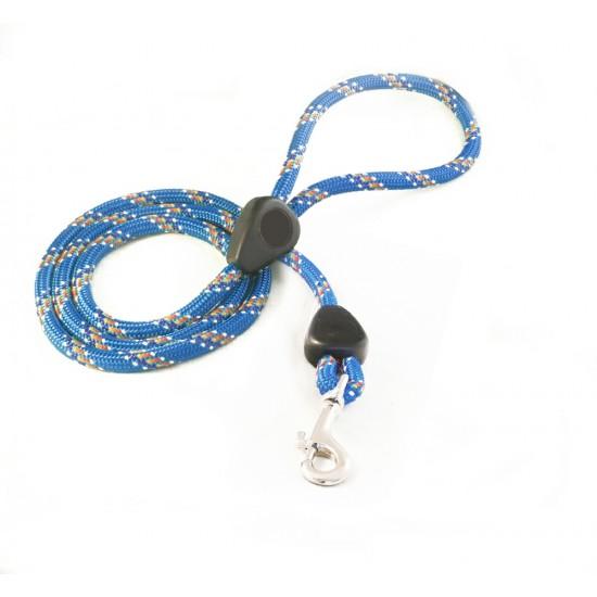 DD6160BL 9mm x 46 inch Blue Rainbow Lead with Trigger Hook
