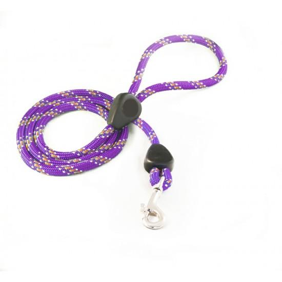 DD6160P 9mm x 46 inch Purple Rainbow Lead with Trigger Hook