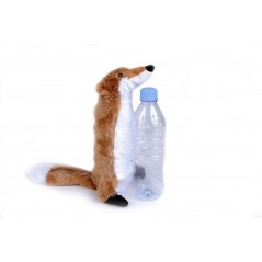 Fox Bottle Fill Squeaky Dog Toy