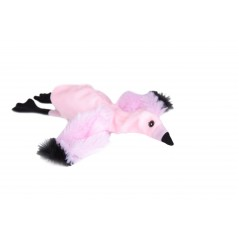 Pink Pelican Flat Friend Dog Toy