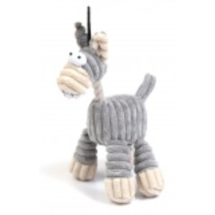 Grey Cord/Rope Horse Toy
