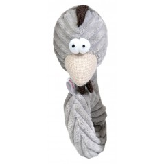Grey Cord Curly Cockerel Head Toy