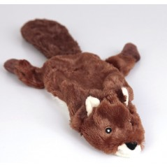 "88011 12.5"" Beaver Flat Friend Skin Dog Toy"