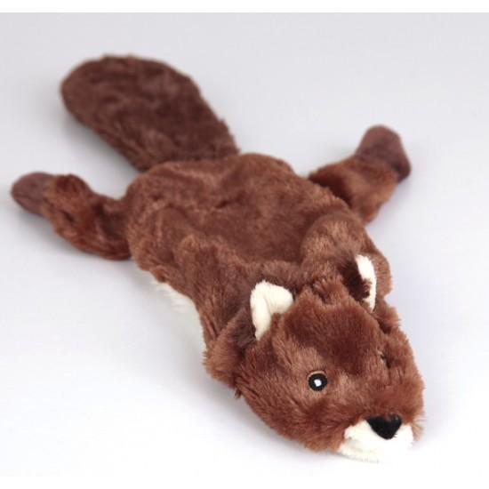 "88011 12.5"" Beaver Flat Friend Skin Dog Toy"