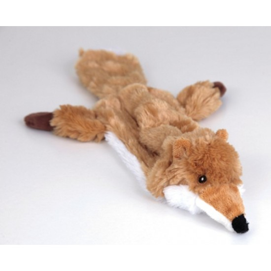 "88010 12.5"" Fox Flat Friend Skin Dog Toy"