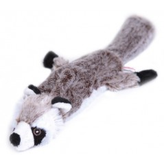 "88012 12.5"" Raccoon Flat Friend Skin Dog Toy"