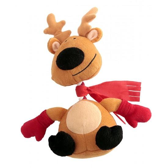 88096 Reindeer Rope/Squeaky Christmas Dog Toy