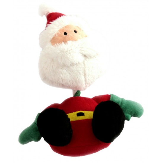 88097 Father Christmas Rope/Squeaky Christmas Toy