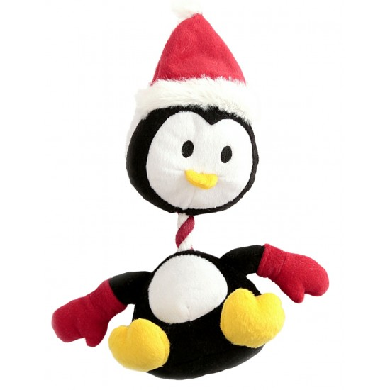 88098 Penguin Rope/Squeaky Christmas Toy