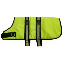 "DJW24PFY 24"" Flo' Yellow Breathe-Comfort Dog coat with Padded Lining"