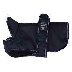 16637 12 inch Dark Blue Reflective Underbelly Padded Dog Coat