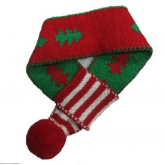70096 Christmas Tree Scarf with Pompom - Med