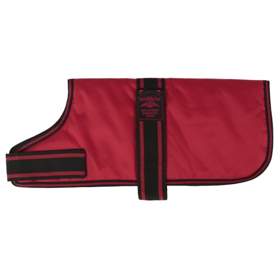 14001 An 10 inch Red Padded Nylon Dog Coat by Animate