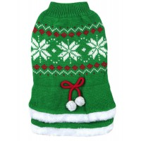 70030 Green Tutu Snowflake Christmas Dog Jumper