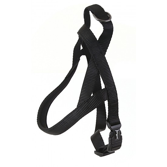 "30711 Black Neoprene Padded Harness 1"" x 24"" - 32"" for dogs"