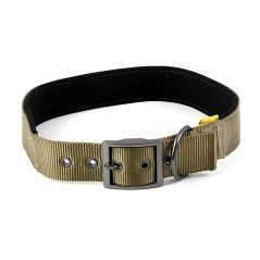 "30681 Olive Padded Neoprene  Nylon Collar 1"" x 16"" - 20"" for dogs"