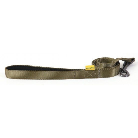 "30651 Olive Padded Handle Lead 25mm x 40"" for dogs"