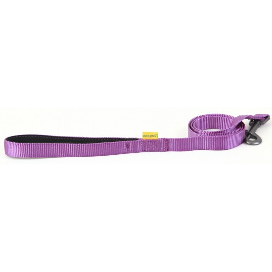 "30653 Purple Padded Handle Lead 25mm x 40"" for dogs"