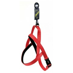"30702 Red Neoprene Padded Harness 1"" x 32"" - 39"" for dogs"