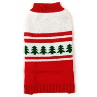 70040 Red Crew Xmas Tree Dog Jumper