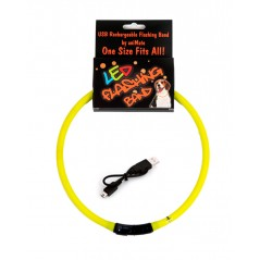 30844 70cm Flashing LED Band Yellow - Cut to size
